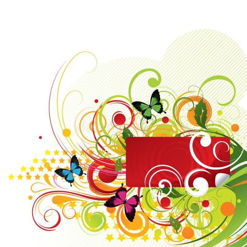 fjärilsswirls stock illustrationer