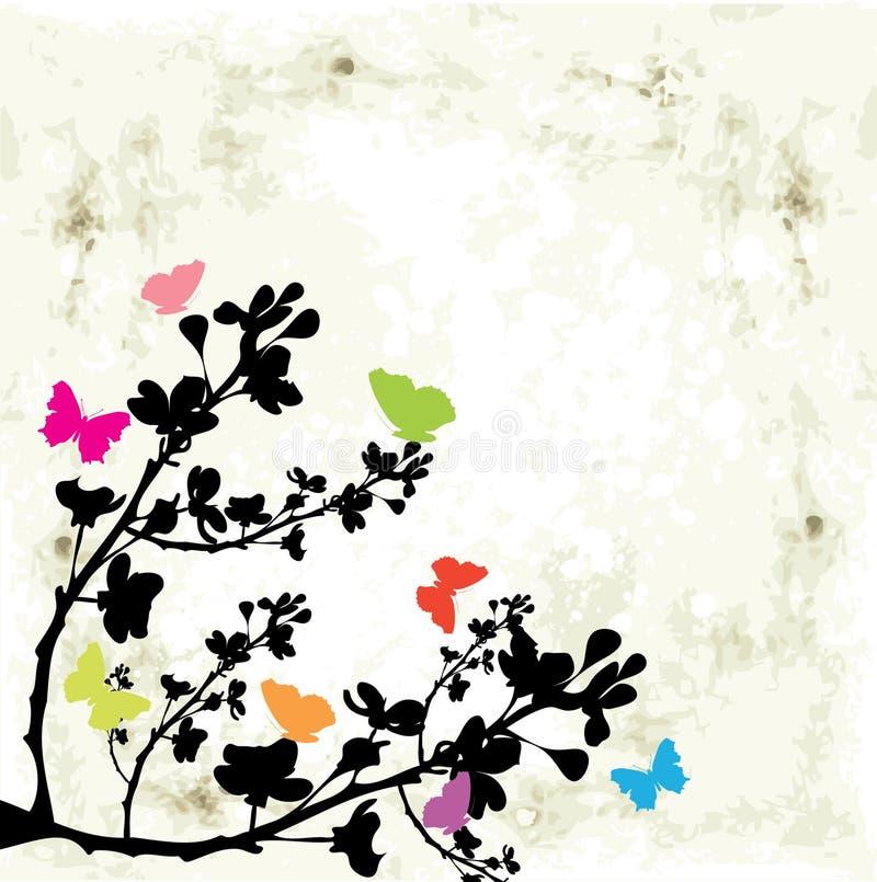 fjärilstree royaltyfri illustrationer