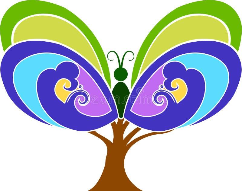 fjärilstree vektor illustrationer