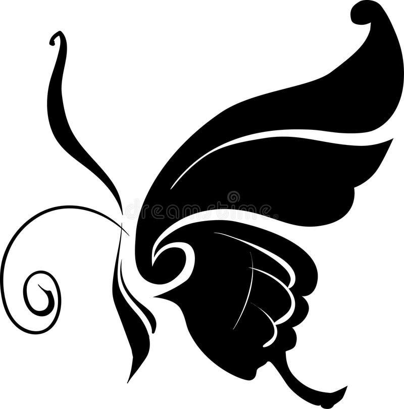 fjärilsvektor royaltyfri illustrationer