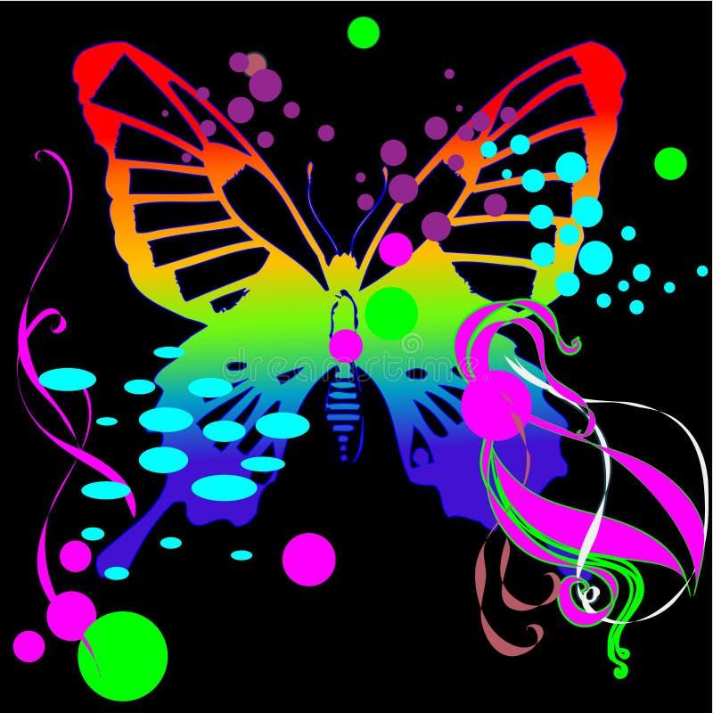 Fjärilsvektorbakgrund vektor illustrationer