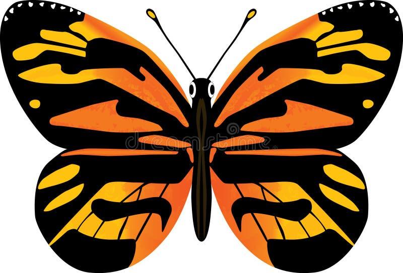 Fjärilsvektorillustration vektor illustrationer