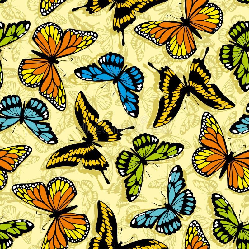 Fjärilswallpaper stock illustrationer