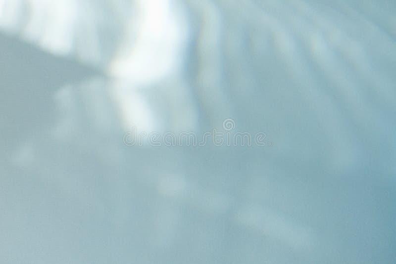 fj?der f?r bakgrundsbokehnatur Läcka reflexion av ett exponeringsglas på blå bakgrund royaltyfri fotografi