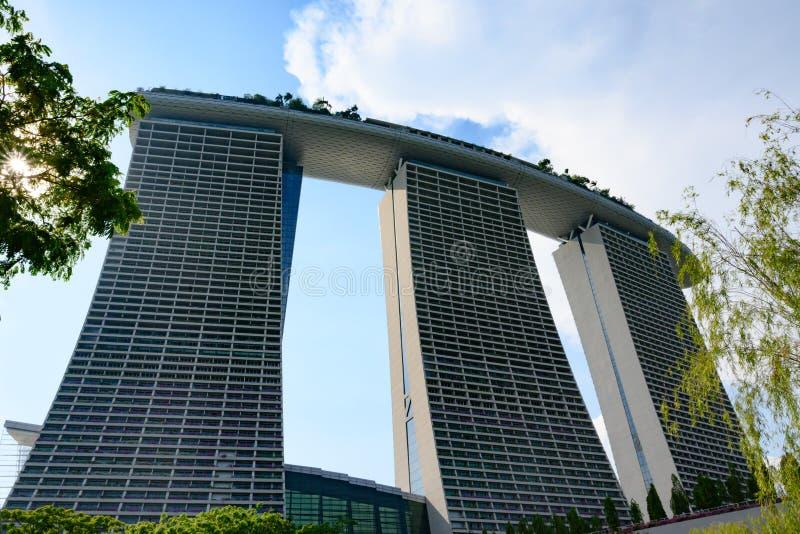 fj?rdhotellmarinaen sands singapore royaltyfria bilder