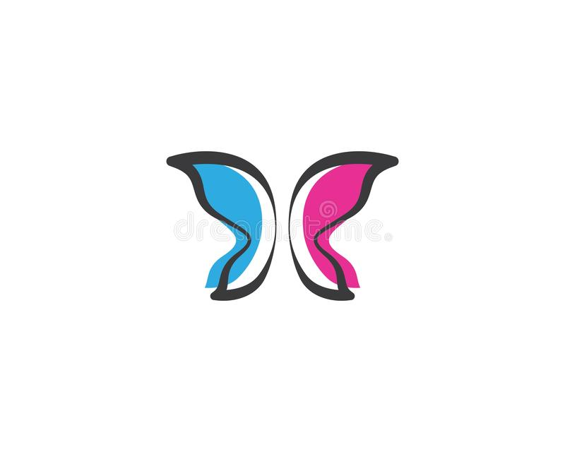 Fj?ril Logo Template stock illustrationer
