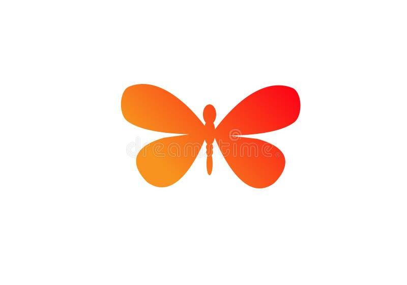 Fj?ril Logo Template enkel form och f?rg o stock illustrationer