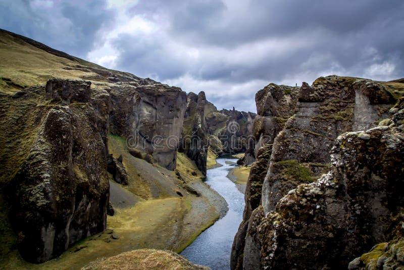 Fjaðrárgljúfur Canyon royalty free stock photos