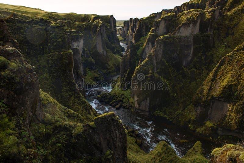 Fjaðrárgljúfur royalty free stock image