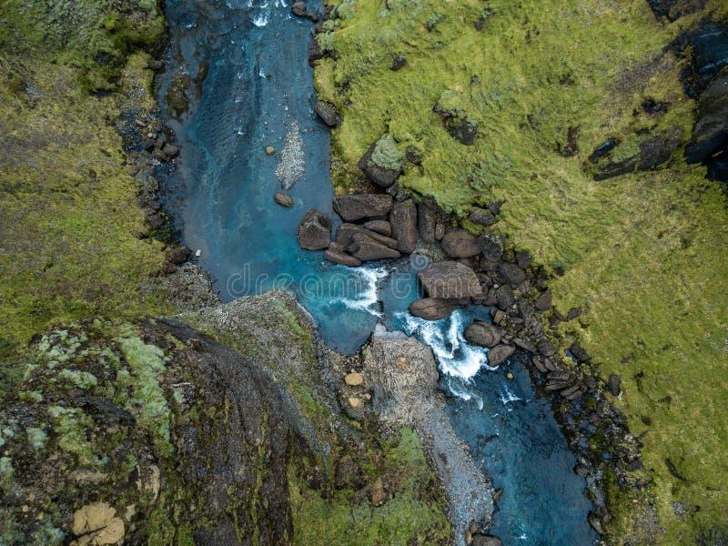 Fjadrargljufur jaru Iceland ` s Epicki jar Południowy Iceland fotografia stock