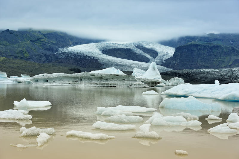 Fjallsarlon glacier lake , Iceland royalty free stock photos