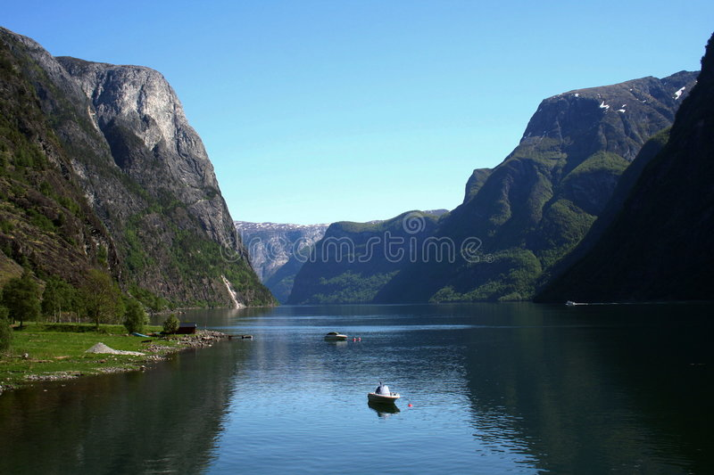 Fjord royalty free stock photo