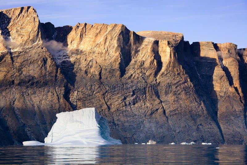 Fjord de Franz Joseph - Groenland oriental photo libre de droits