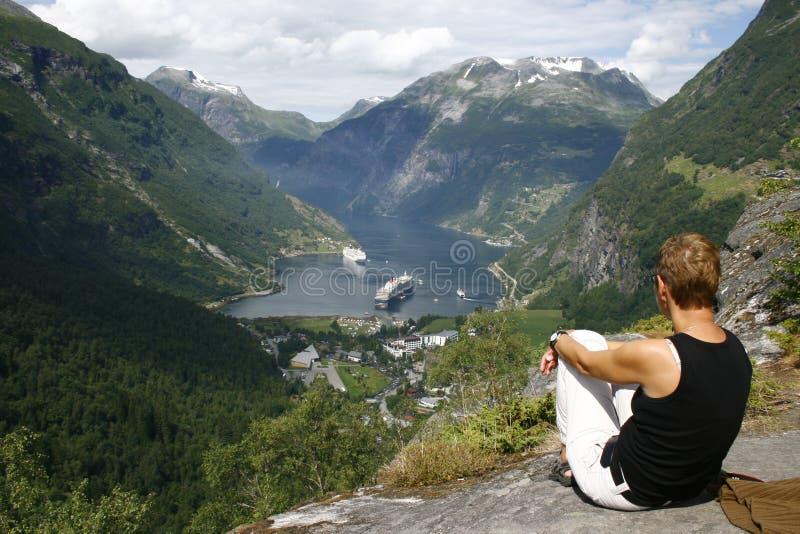Fjord de Geiranger imagem de stock royalty free