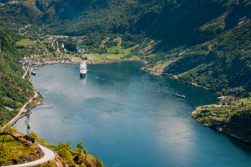 Fjord de Geiranger (Noruega) foto de stock