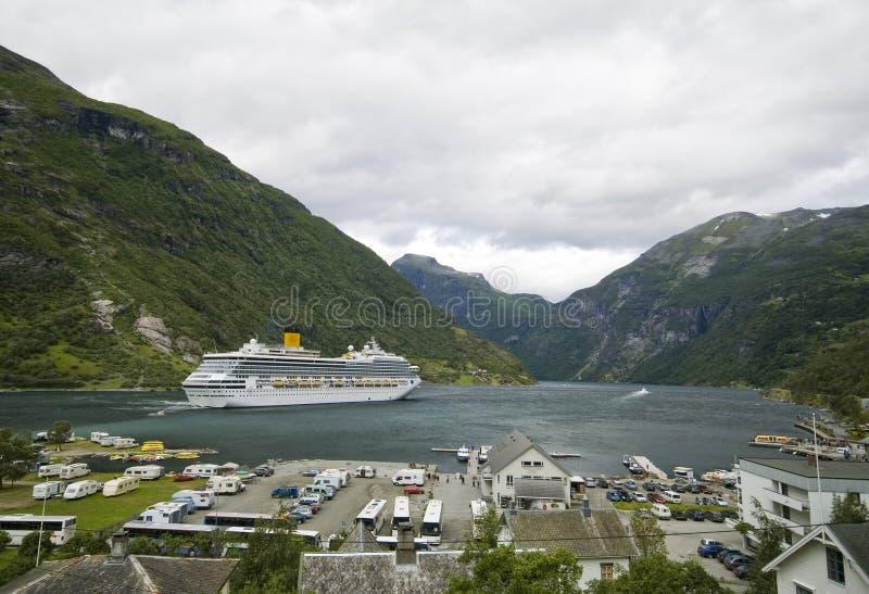 Fjord de Geiranger, Noruega fotos de stock