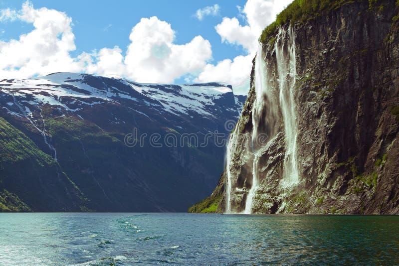 Fjord de Noruega imagem de stock