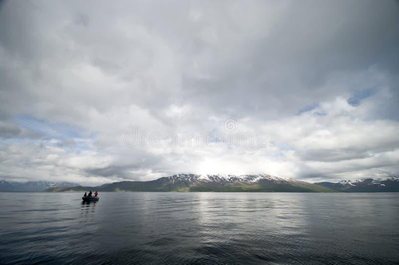 fjord de pêche images stock