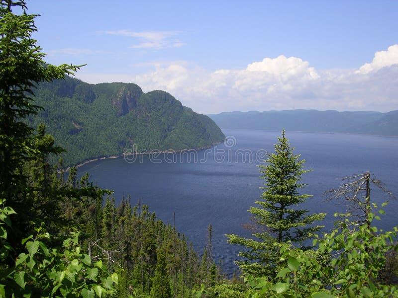 Fjord de Saguenay photographie stock