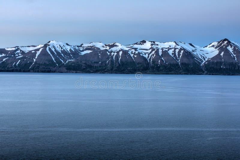 Fjord en Islande images libres de droits