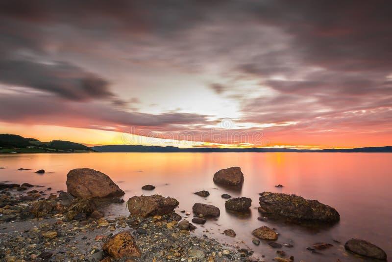 Fjord ensanglanté images libres de droits