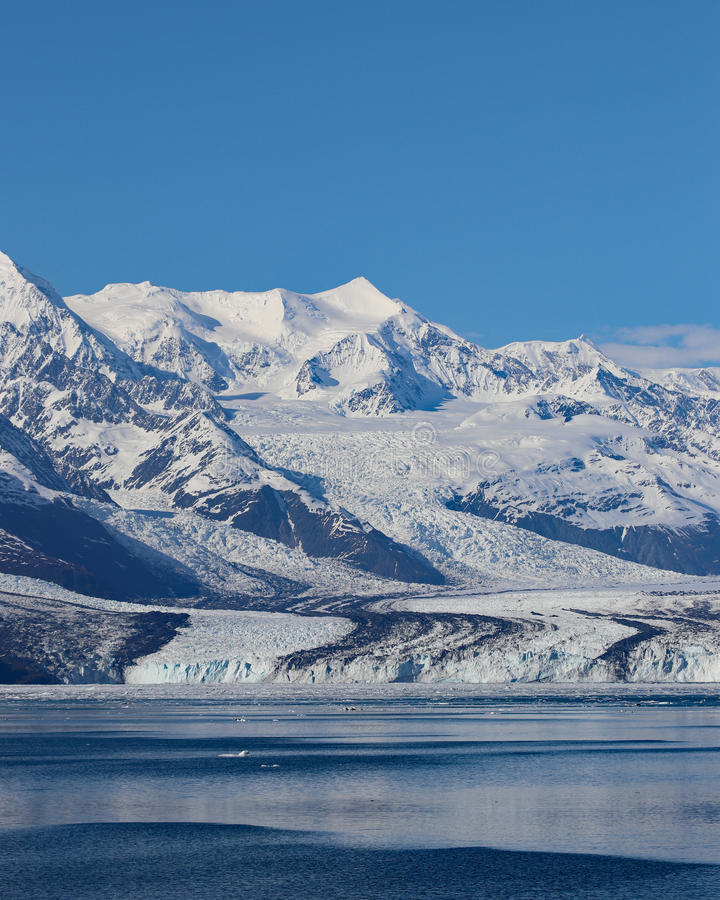 Fjord för tidvattenglaciärhögskola arkivbilder