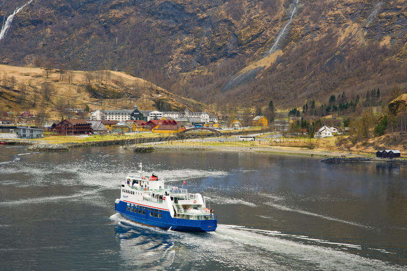 Fjord Ferry, Flam, Norway stock image