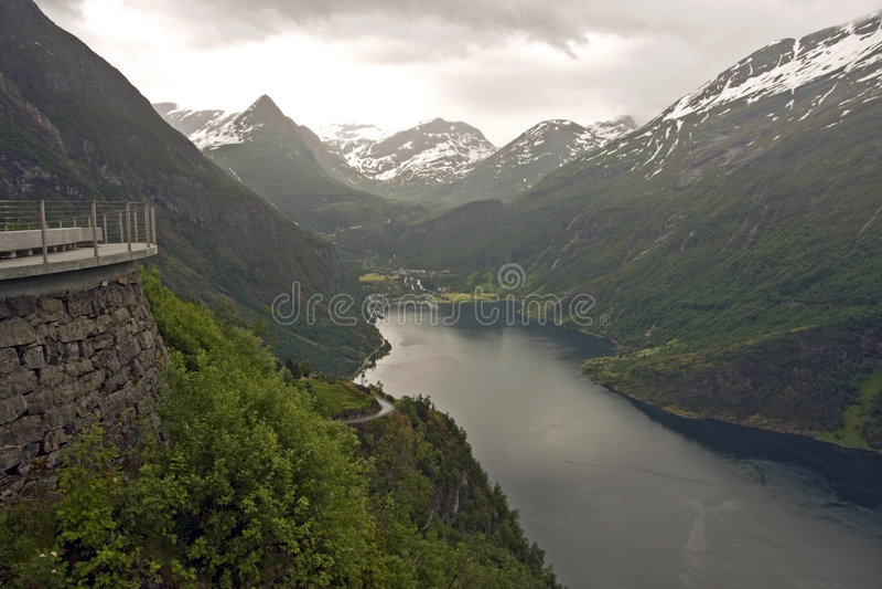 fjord geiranger obrazy royalty free