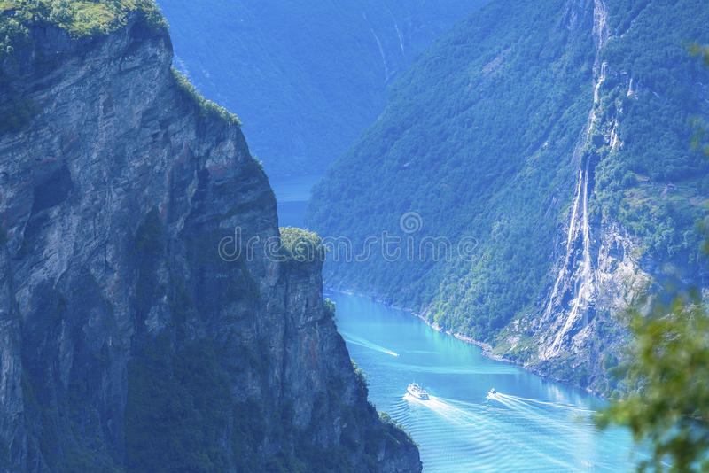 fjord geiranger Norway obrazy royalty free