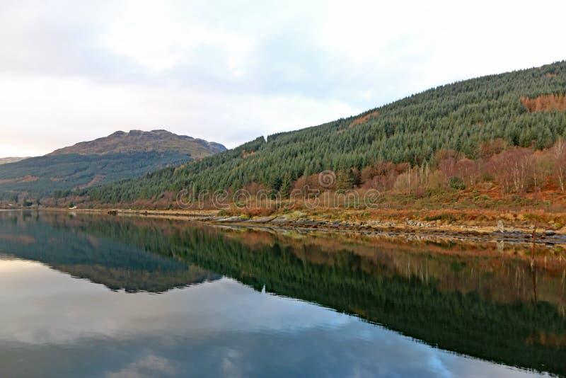 Fjord länge, Skottland arkivbild