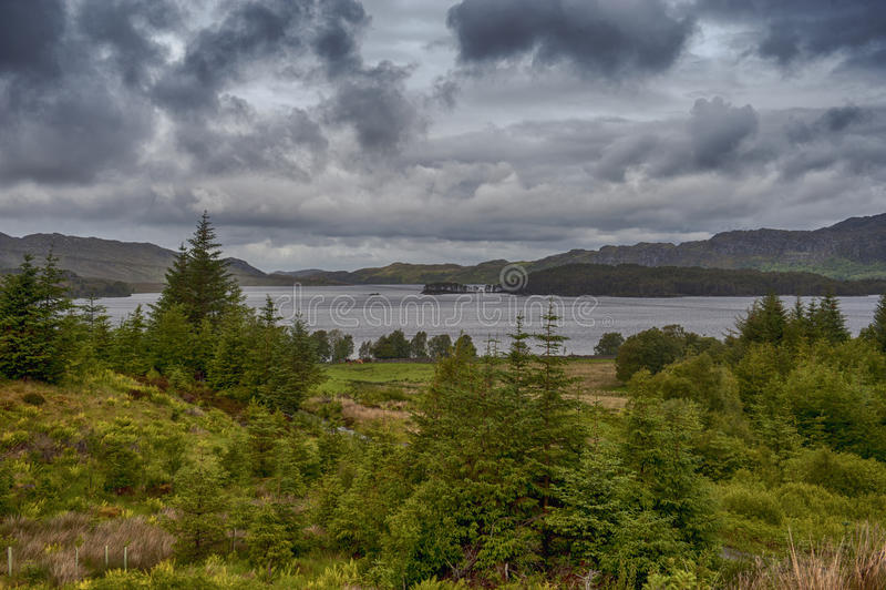 Fjord Maree arkivfoto