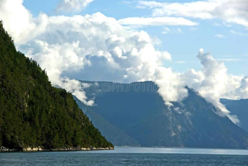 Fjord royalty free stock photo