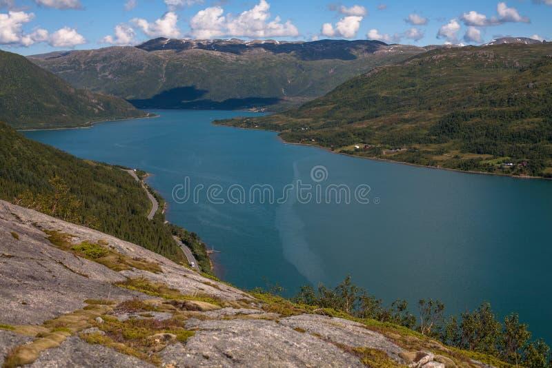 Fjord norueguês foto de stock