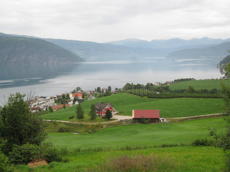 Fjord norueguês fotografia de stock royalty free