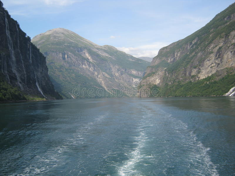 Fjord norueguês fotos de stock royalty free