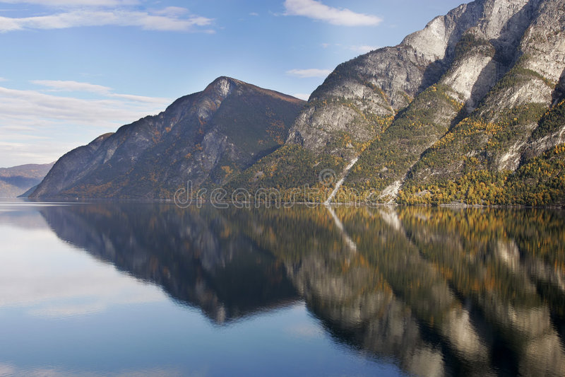 Fjord - Norvège image stock
