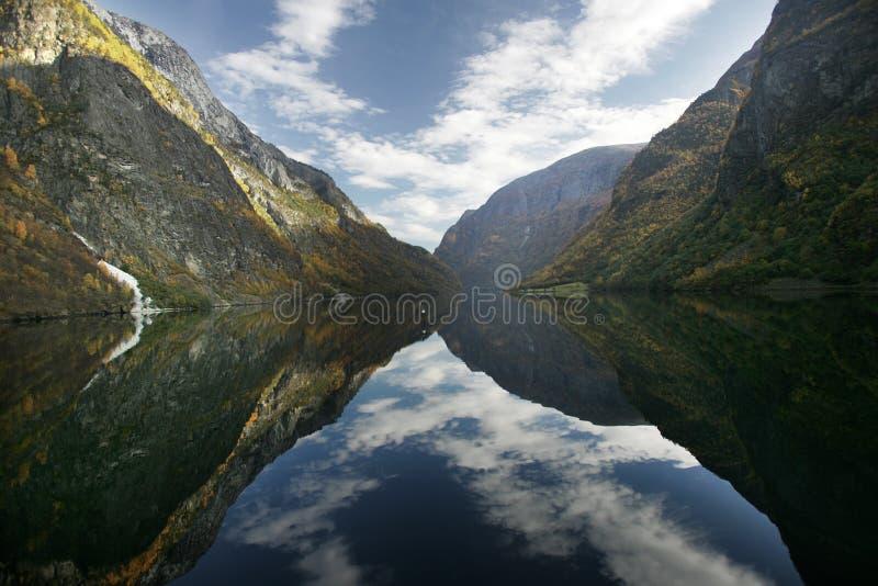 Fjord - Norvège image libre de droits