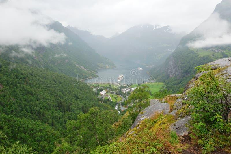 Fjord Norvège de Geiranger photos stock
