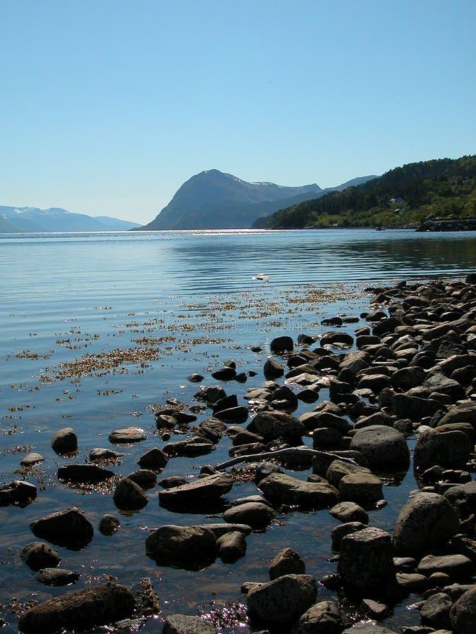 Fjord norvégien photo stock