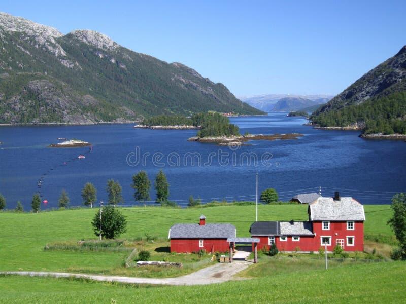 fjord norway royaltyfri bild