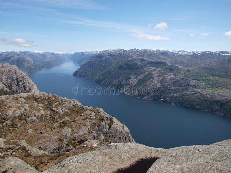 Fjord in Norwegen lizenzfreies stockfoto