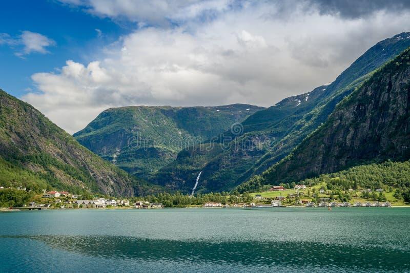 Fjord norweski krajobraz zdjęcie stock