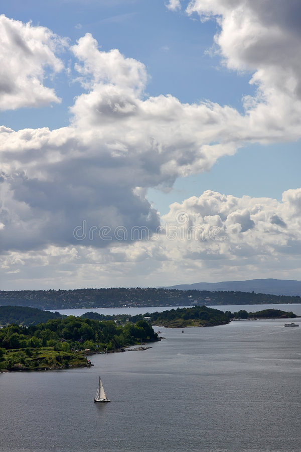 fjord Oslo obrazy stock