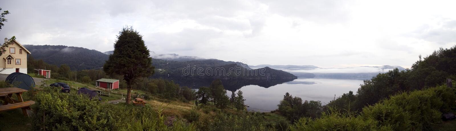 Fjord Panorama. Royalty Free Stock Photo