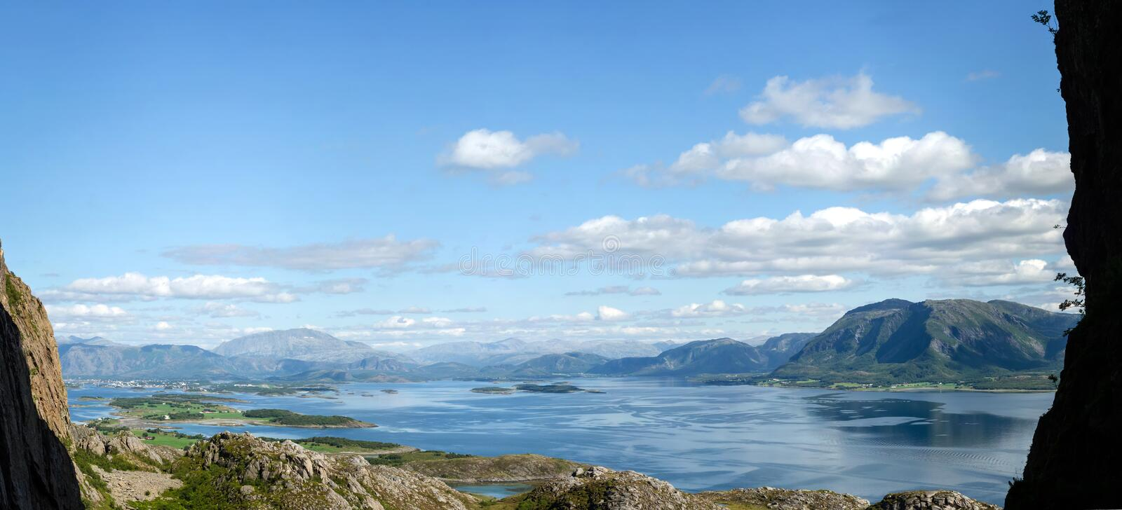 Download Fjord scenery panorama stock image. Image of clouds, clearance - 27068435