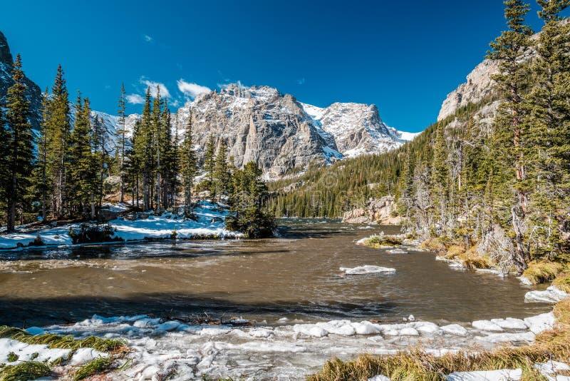 Fjord sjön, Rocky Mountains, Colorado, USA royaltyfri foto