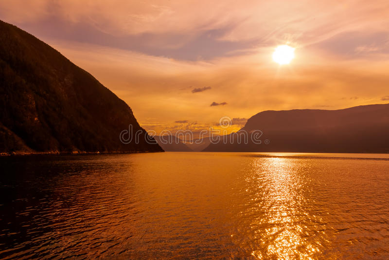 Fjord Sognefjord - Norvège images libres de droits