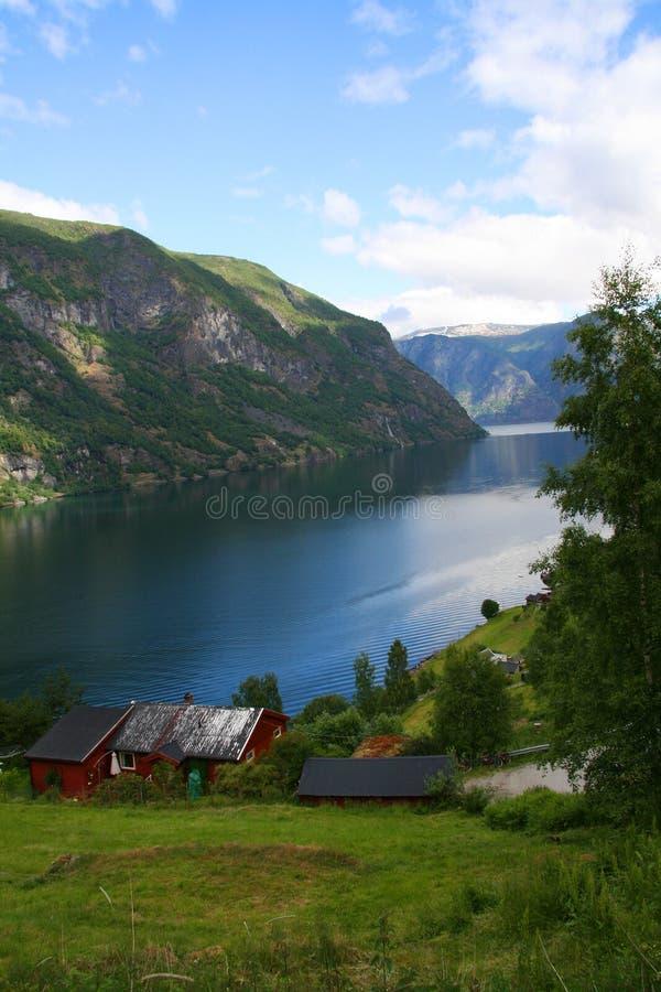 Fjord Sognefjord, Norvège image stock