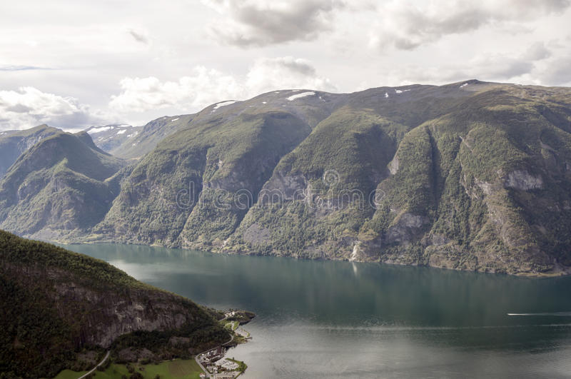 Fjord in southern Norway. On a sunny day stock image