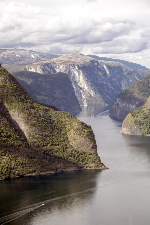 Fjord in southern Norway. On a sunny day. It´s a vertical picture stock images